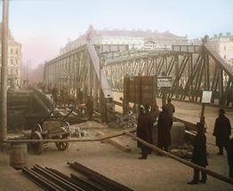 Die 1871/72 errichtete Brigittabrücke
