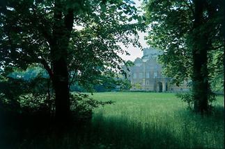 Große Wiese vor Schloss Prugg