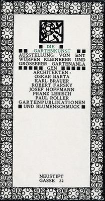 Einladungskarte zur Ausstellung Die Gartenkunst