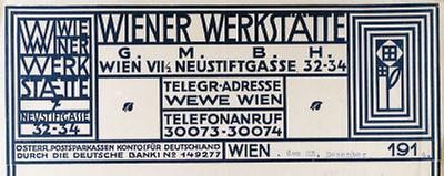 Briefkopf der Wiener Werkstätte