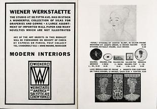 Verkaufskatalog der Wiener Werkstaette of America Inc