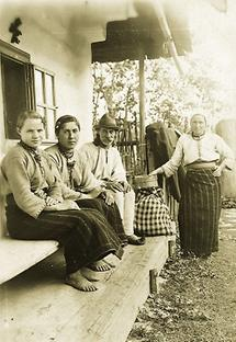 Rumänische Bauernfamilie aus der Bukowina