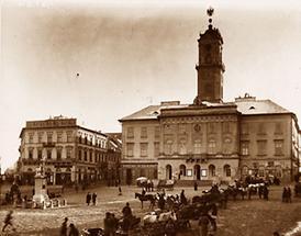 Rathausplatz in Czernowitz, Bukowina