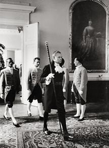 Empfang des schwedischen Königs
