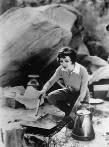 Die Schauspielerin Claudette Colbert