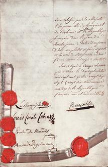 Friede von Campoformido mit Napoleon
