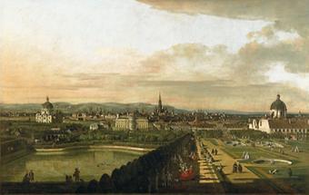 Wien vom Belvedere aus gesehen