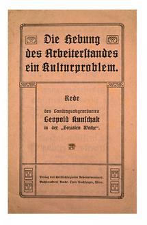 Umschlag einer Boschüre von Leopold Kunschak
