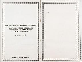 Doppelseiten aus dem Arbeitsprogramm