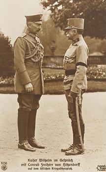 Kaiser Wilhelm II. im Gespräch mit Conrad Freiherr von Hötzendorff (1)