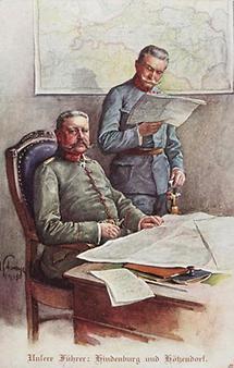 General Paul von Hindenburg und Freiherr Conrad von Hötzendorf