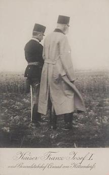 Kaiser Franz Joseph I. und Franz Conrad von Hötzendorf
