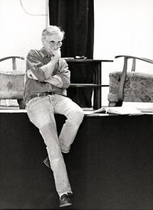 Axel Corti bei einer Probe