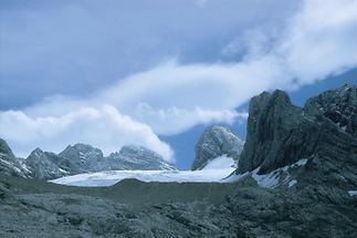 Der Dachstein mit dem Gosaugletscher, Oberösterreich