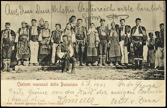 Kroatische Trachten aus Bucovizza