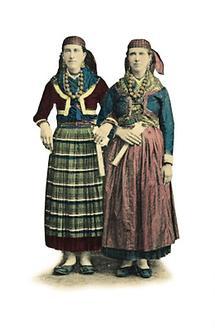 Kroatische Frauentrachten aus Ragusa