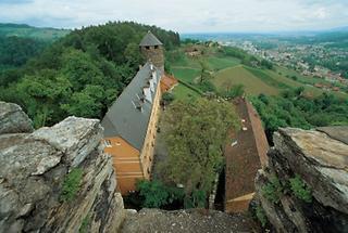 Blick von der Burg Landsberg