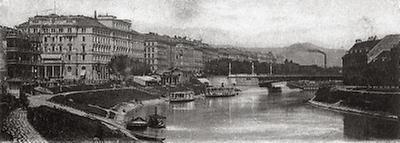 Der Wiener Donaukanal mit der Stephaniebrücke