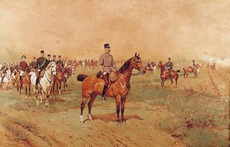 Kaiser Franz Joseph auf dem Manöverfeld