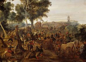Anschlag auf einen Vorratswagen während des Dreissigjährigen Krieges