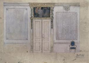 Entwurf für eine Wand des Palais Dumba