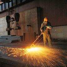 Moderne Stahlindustrie in Linz