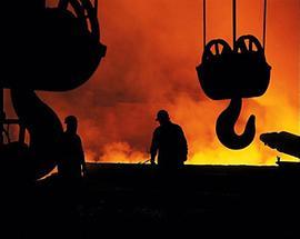 Im LD-Stahlwerk der VOEST