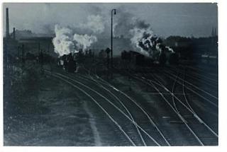 Zwei Eisenbahnzüge