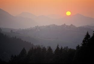 Sonnenuntergang am Gamsstein
