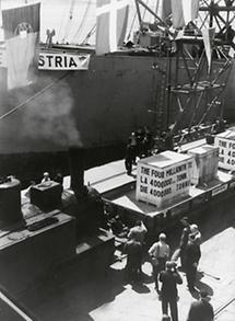 Hilfslieferung im Rahmen des Marshall-Plans