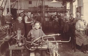 Kinderarbeit in einer Wiener Maschinenfabrik