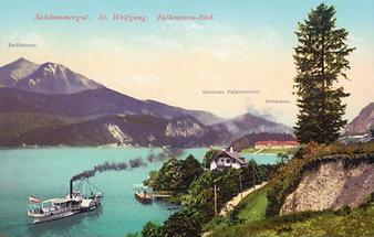 Postkarte Wolfgangsee