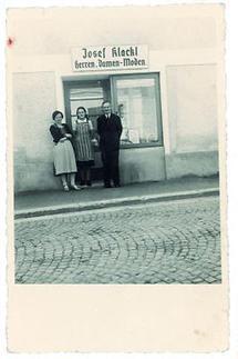 Josef Klackl mit Frau und Tochter