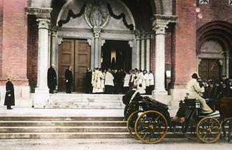 Einweihung Antonskirche durch Kaiser Franz Joseph