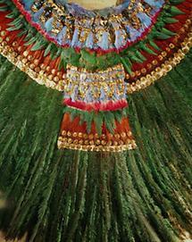 Federkopfschmuck eines Aztekenpriesters