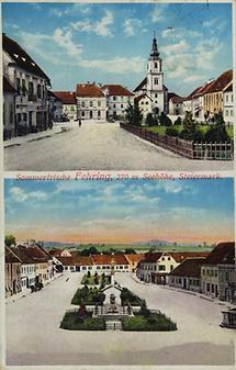 Postkarte mit 2 Motiven