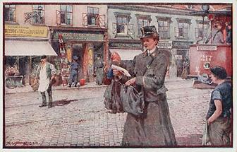 Erster Weltkrieg. Bildpostkarte. Propaganda