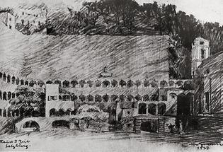 Entwurf für die Fauststaelsenreitschule in Salzburg