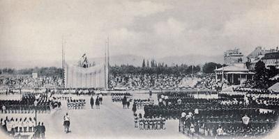Enthüllung des Erzherzog-Karl-Denkmals