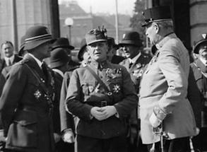Emil Fey; Graf Takasch-Tolvay und Alois Schönburg-Hartenstein