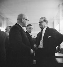 Figl auf einer ÖVP-Parteisitzung 1963