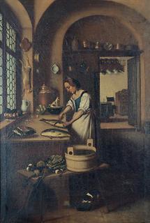 Köchin in einer Küche