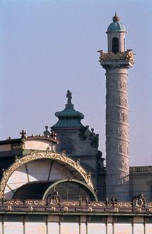 Blick über die Stadtbahnstation Karlsplatz