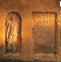 Römisches Steindenkmal aus Flavia Solva