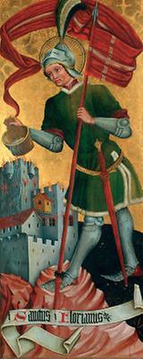 Gotisches Tafelbild des Hl. Florians