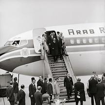 Staatsbesuch von Präsident Sadat