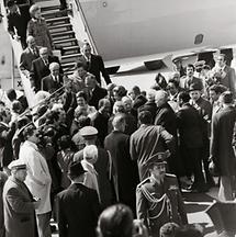 Anwar as Sadat bei seiner Ankunft in Wien-Schwechat