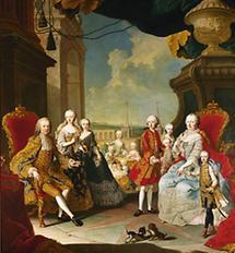 Franz I. Stephan und Maria Theresia im Kreise der Familie