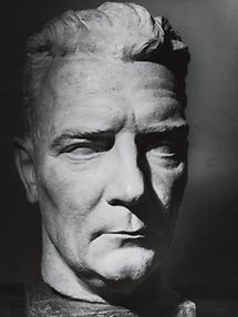 Bruno Brehm. Plastik von Wilhelm Frass