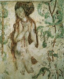 Wandmalerei in der Burg Rapottenstein